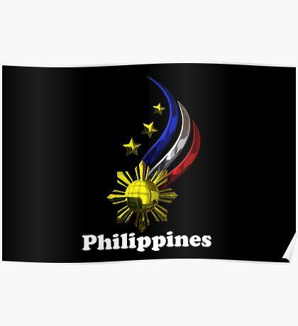 Philippine Logo Design by nhk999 black Poster