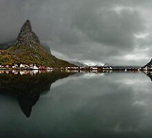 Morning in Reine by Keijo Savolainen