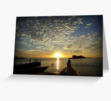 Sunset on the Gulf of Mexico Greeting Card