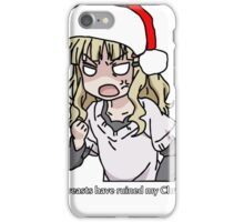 Your breasts have ruined my christmas! Hat version (Yuru yuri) iPhone Case/Skin