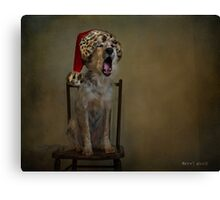 Deck the halls with howls of Collie Canvas Print