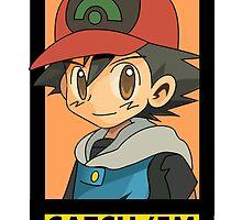 ash portrait (catch 'em) by shinypikachu