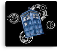 The Great Geometric Tardis Canvas Print