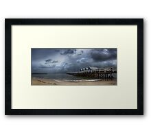 Moody on the Jetty Framed Print