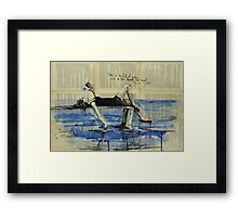She is Too Fond of Books Framed Print