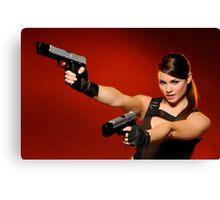 Guns Girl Canvas Print