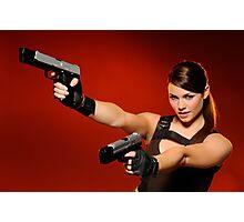 Guns Girl Photographic Print