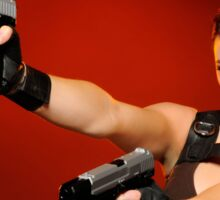 Guns Girl Sticker