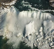 Aerial View of Niagara Falls with Snow and Ice by Georgia Mizuleva