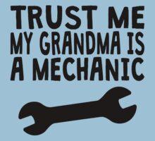Trust Me My Grandma Is A Mechanic Kids Tee