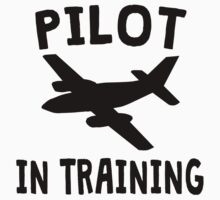 Pilot In Training Kids Tee