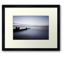 10 minute exposure on Eastbourne seafront Framed Print