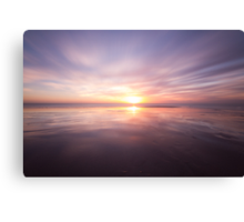 Sunset at Birling gap, East Sussex Canvas Print