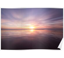 Sunset at Birling gap, East Sussex Poster