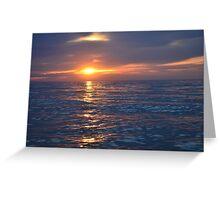 Long Island Sunset Greeting Card