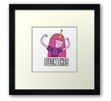 Adventure Time Fu*k Framed Print