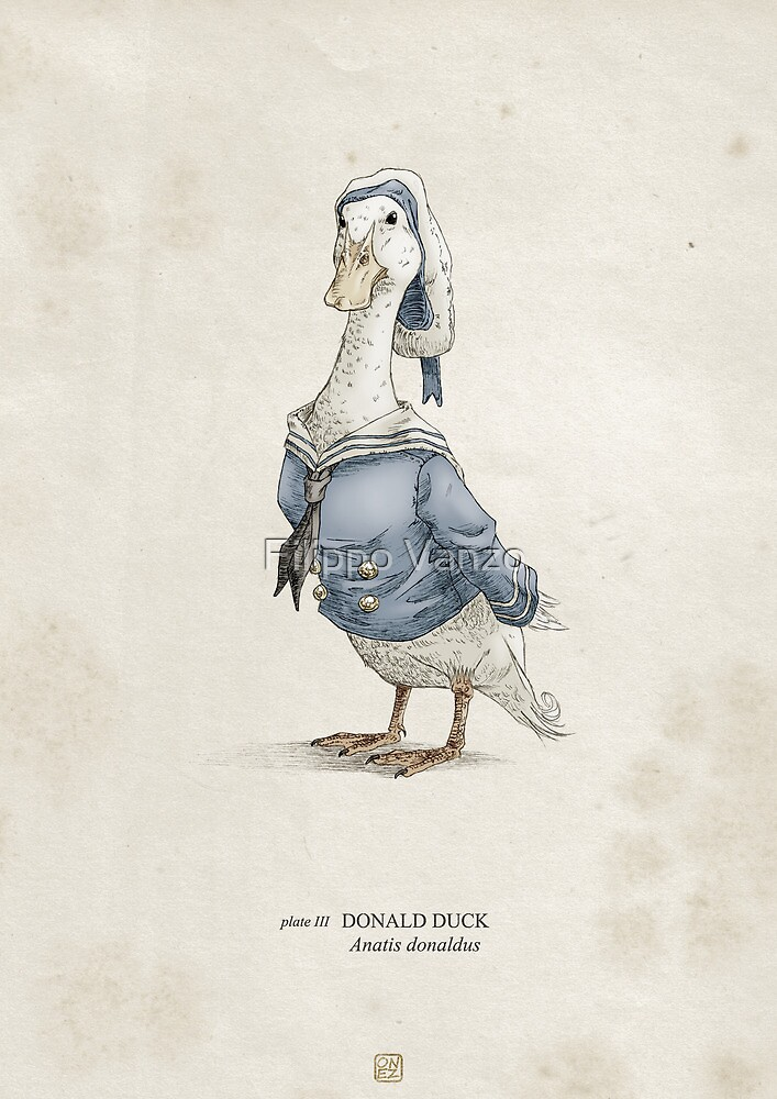Real Life Donald Duck - Natural History Variant by Filippo Vanzo