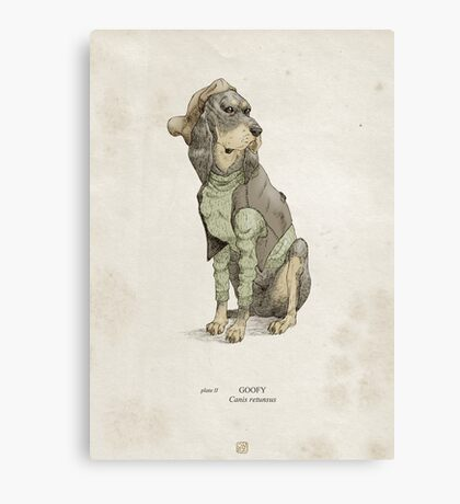 Real Life Goofy - Natural History Variant Canvas Print