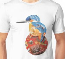 Kingfisher on red ball Unisex T-Shirt