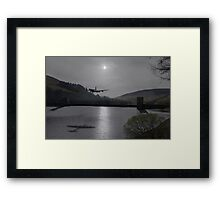 Dambusters Lancaster at the Derwent Dam at night Framed Print