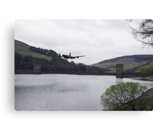 Dambusters Lancaster at the Derwent Dam Canvas Print