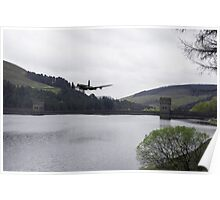 Dambusters Lancaster at the Derwent Dam Poster