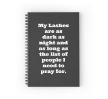 My Lashes Spiral Notebook