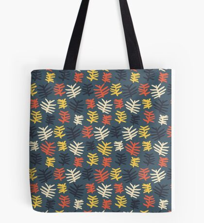 Abstract colorful floral leaf pattern design Tote Bag