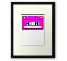 Pink Cassette Tape Framed Print