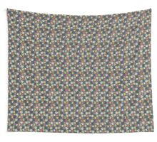 Abstract colorful floral leaf pattern design Wall Tapestry