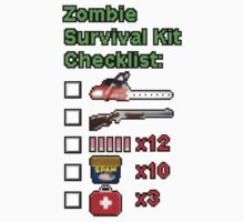 Zombie Survival Kit Checklist by bellingk