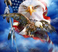 Eagle - Vision Of Freedom by Carol  Cavalaris