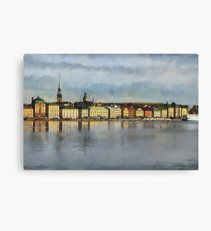 Stockholm from the Sea Canvas Print