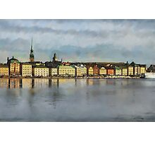 Stockholm from the Sea Photographic Print
