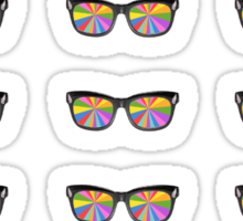 Color glasses stickers Sticker
