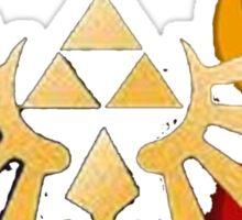 Triforce with Sages symbols Sticker