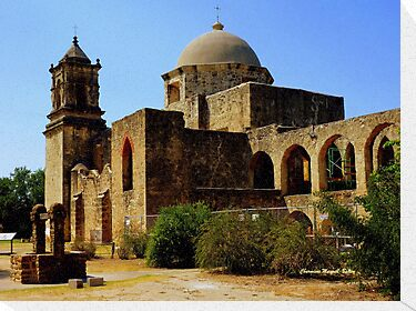 Mission San Jose in San Antonio by Charmiene Maxwell-batten