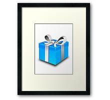 Blue Gift Box Framed Print