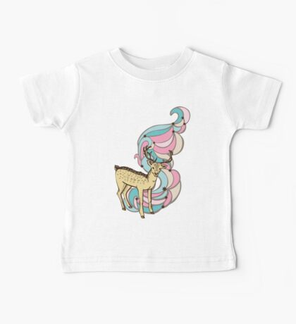 Color print with a deer and patterns Baby Tee