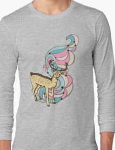 Color print with a deer and patterns Long Sleeve T-Shirt