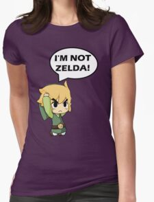 I'm Not Zelda Womens Fitted T-Shirt