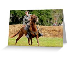 Civil War Soldier and Horse Greeting Card