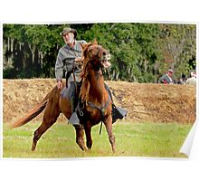 Civil War Soldier and Horse Poster