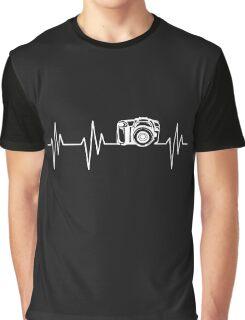 Camera Heartbeat Graphic T-Shirt