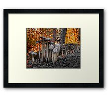 Stay Close Little Children ~ Wild Mushrooms ~ Framed Print