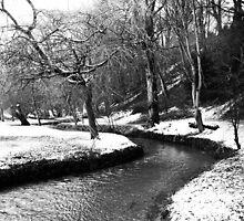 The babbling brook in winter by Yorkspalette