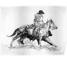 Quarter Horse Working Cowhorse Poster