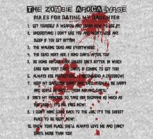 The Zombie Apocalypse - Rules for Dating My Daughter (Blk) by Marjuned