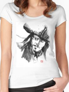 jack sparrow Women's Fitted Scoop T-Shirt