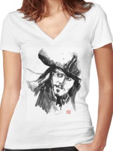 jack sparrow Women's Fitted V-Neck T-Shirt